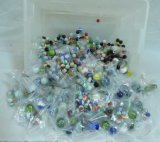 Large Collection Of Vintage & Modern Marbles