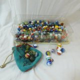 Vintage marbles some shooters