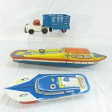 Vintage Tin Boats & Friction Truck