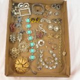 Vintage costume jewelry some signed