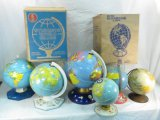 8 Vintage Tin Globes 2 With Original Boxes