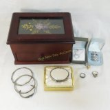 Sterling silver jewelry & jewelry box