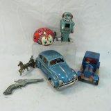 Vintage Tin Toys & Cast Metal Toys