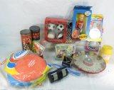 Vintage Toys, Frisbees, Juggling Balls, Bingo Game