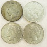 4 1922 Peace Silver Dollars