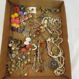 Circa 1980's and 1990's fashion jewelry