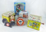 Vintage Disney Toys, 2 Melody Players, Tricycle