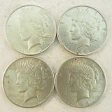4 1923 Peace Silver Dollars