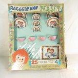 J. Chein Raggedy Ann Tea Set With Box
