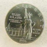 1986 P Ellis Island Silver Dollar BU