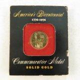 1976 Bicentennial Commemorative Gold Medal