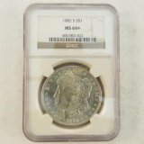 1882 S Morgan Silver Dollar NGC Graded MS64+