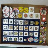 Vintage and modern pin backs
