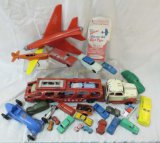 Vintage metal and plastic vehicle collection