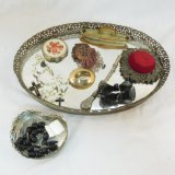 Mirror vanity trays, pin cushion & more