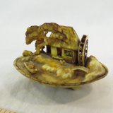 Antique miniature carved scene in a sea shell