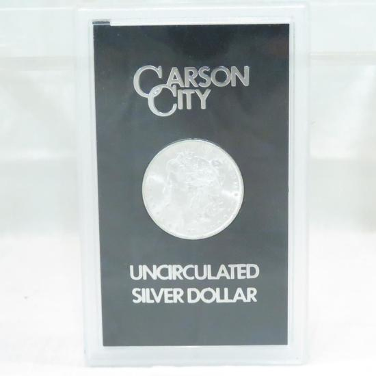 1882 CC Morgan Silver Dollar UNC in GSA case