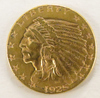 1925 D $2 1/2 Gold Indian Head Quarter Eagle