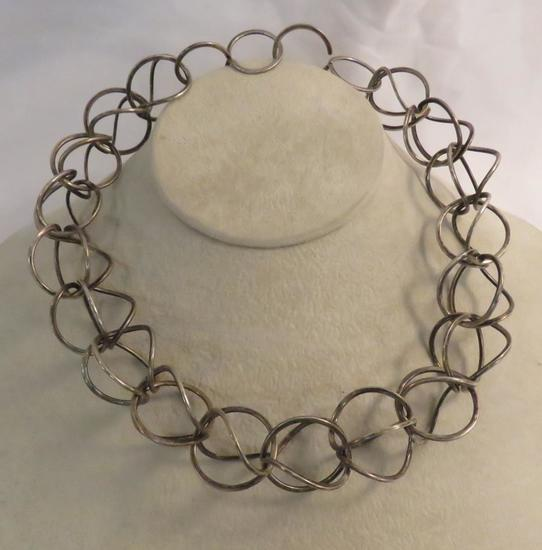 Pearson mid-century sterling necklace 54.8gtw