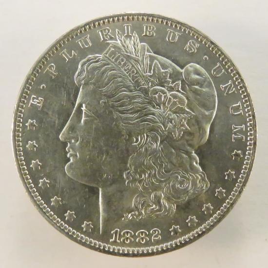 1882 O Morgan Silver Dollar AU