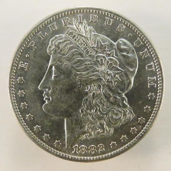 1882 S Morgan Silver Dollar AU