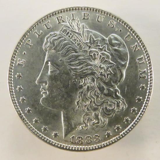 1883 Morgan Silver Dollar AU