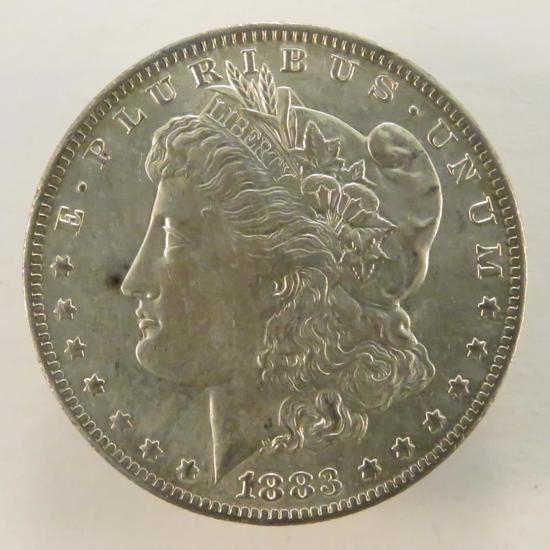 1883 O Morgan Silver Dollar AU