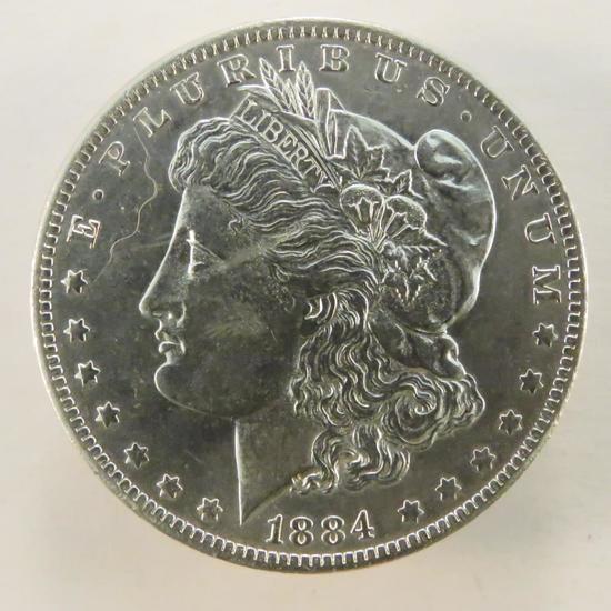 1884 O Morgan Silver Dollar AU