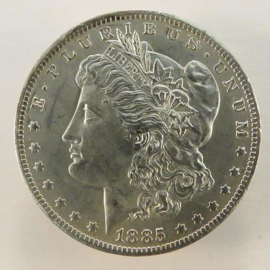 1885 O Morgan Silver Dollar AU