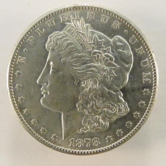 1878 S Morgan Silver Dollar AU