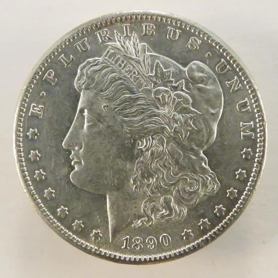 1890 S Morgan Silver Dollar AU