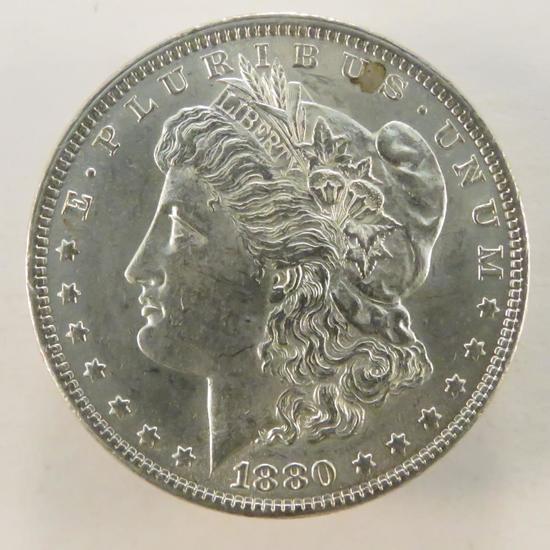 1880 Morgan Silver Dollar AU