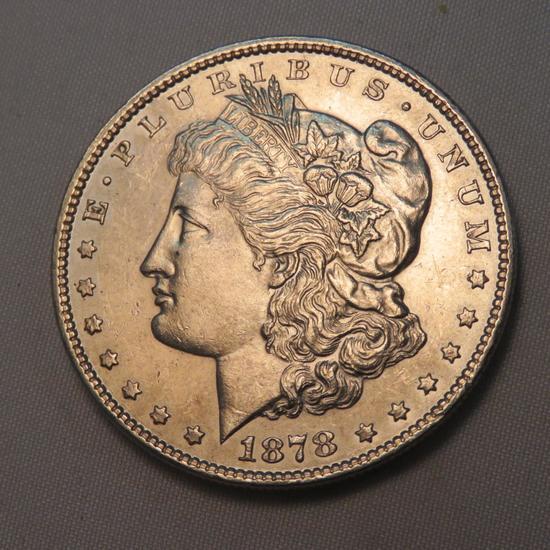 1878 Morgan Silver Dollar AU