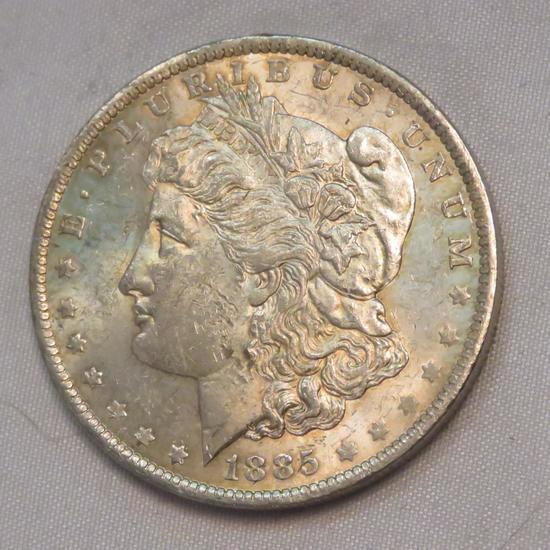 1885 O Morgan Silver Dollar
