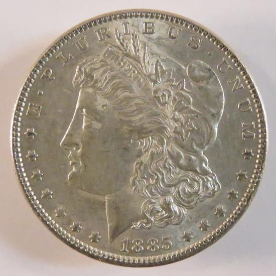 1885 Morgan Silver Dollar AU