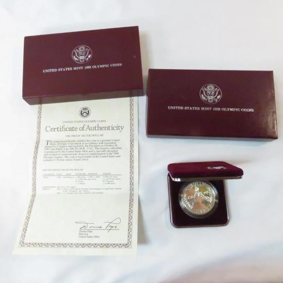 1988 S Olympic Silver Dollar Proof