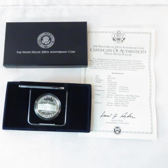 1992 W White House 200th Anniversary Silver proof