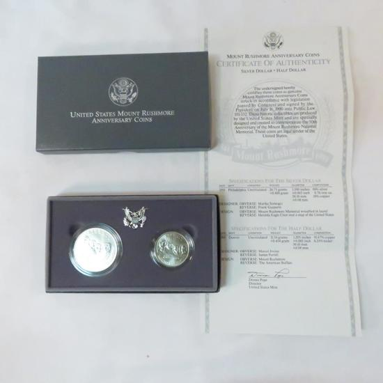 1991 Silver Mt. Rushmore uncirculated set with box