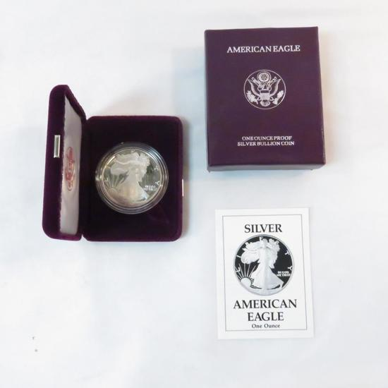 1990 S American Silver Eagle Proof