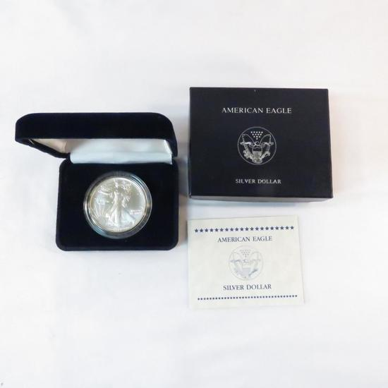 1991 American Silver Eagle Uncirculated with box