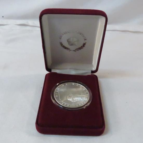1991 Chrysler Bill of Rights 1 ozt silver coin