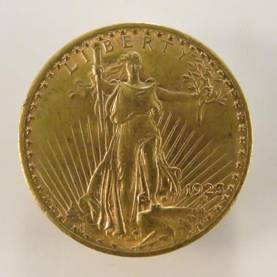 1923 $20 Gold St Gaudens Double Eagle