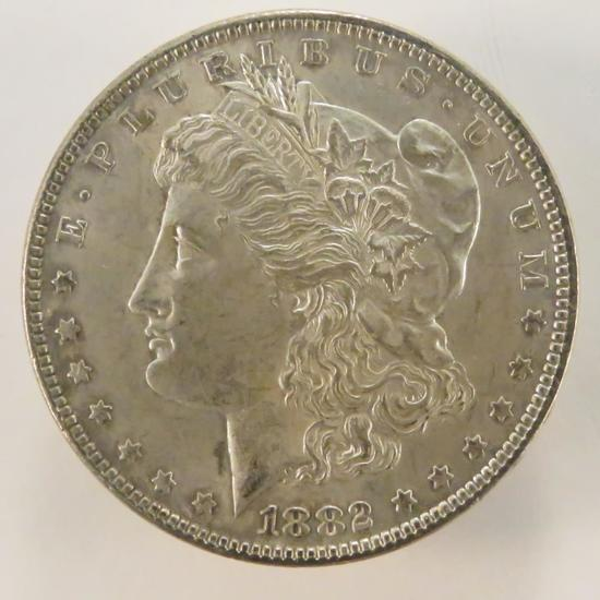 1882 Morgan Silver Dollar AU