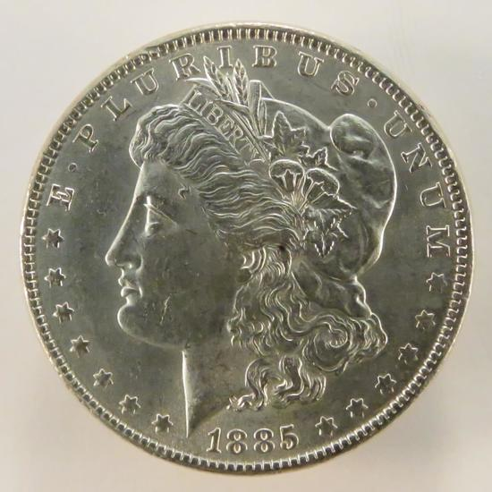 1885 Morgan Silver Dollar AU