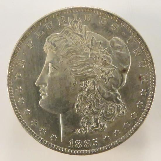 1885 O Morgan Silver Dollar AU