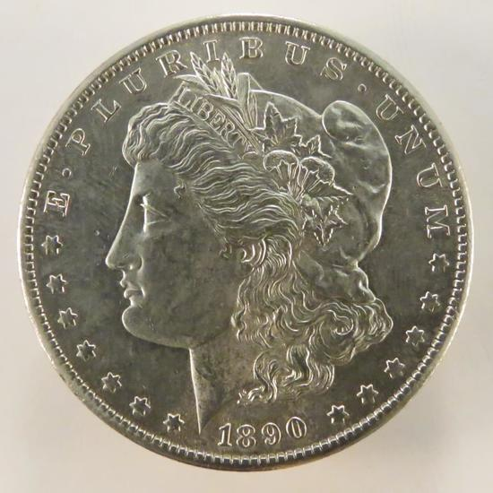 1890 S Morgan Silver Dollar AU