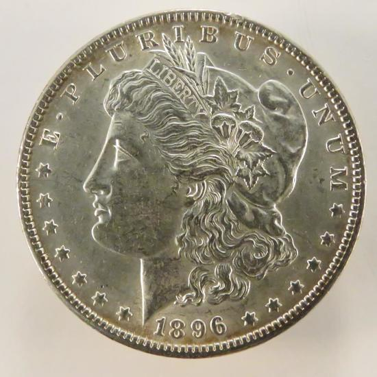 1896 Morgan Silver Dollar AU