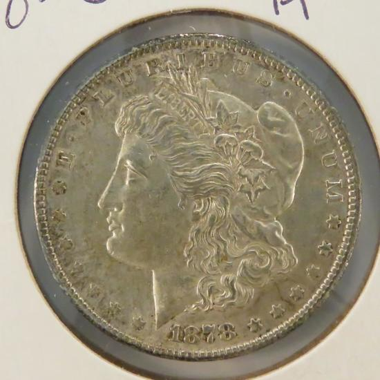 1878 S Morgan Silver Dollar Choice AU