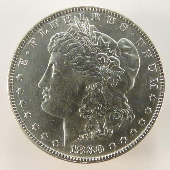 1880 O Morgan Silver Dollar AU