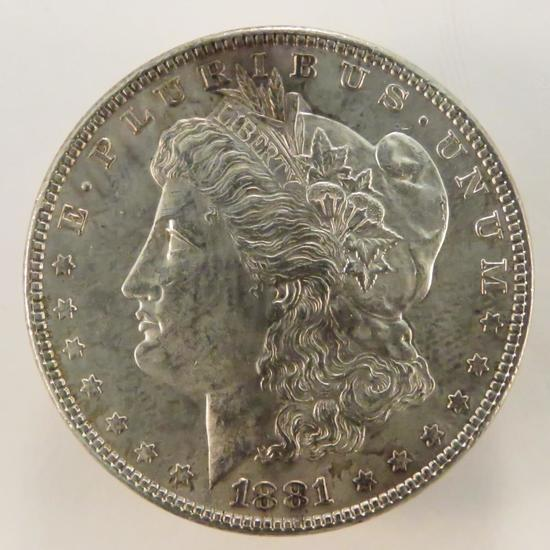1881 Morgan Silver Dollar AU